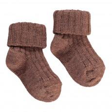 Chaussettes Côtelées Bébé Vieux Rose