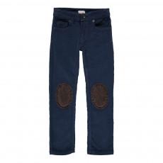 Pantalon Velours Genouillères Ziggy Bleu marine