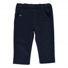 Pantalon Sergé Coton Bleu marine
