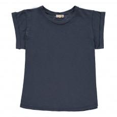 T-Shirt Coton Flammé Valentin Bleu gris
