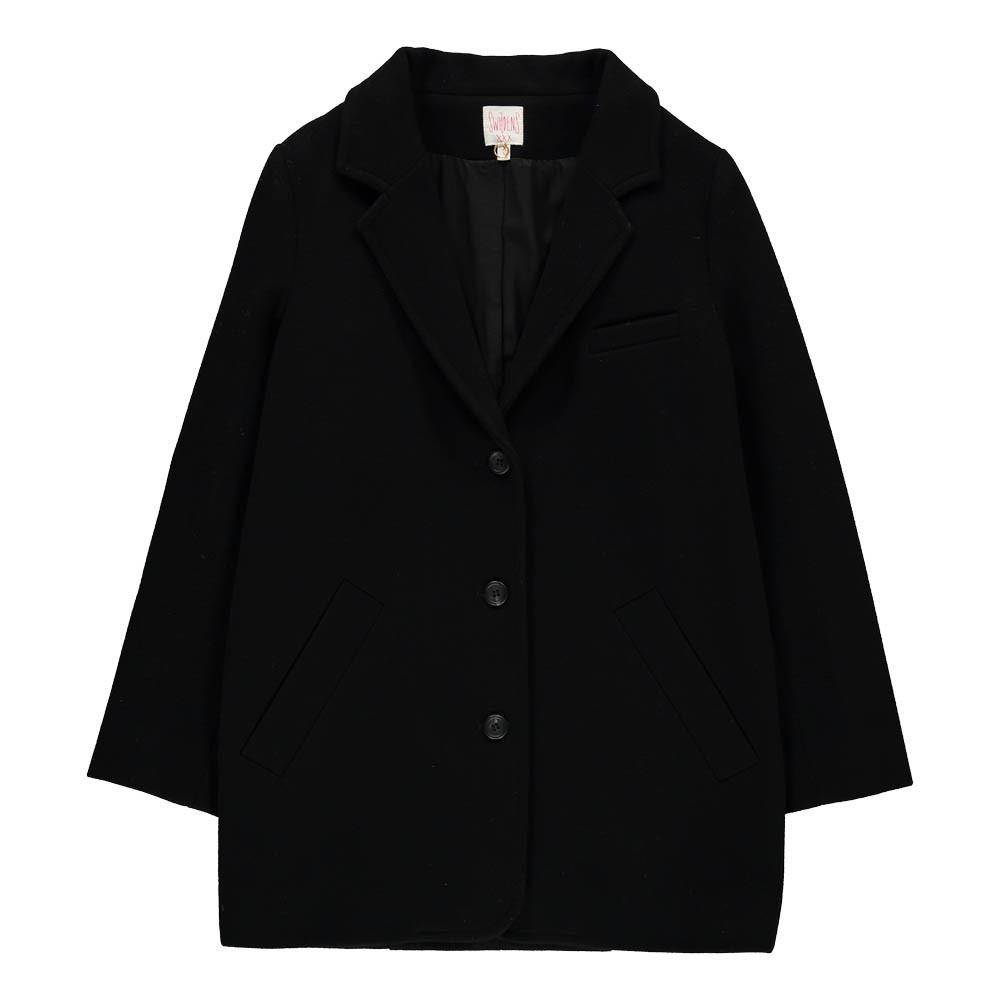 manteau laine et cachemire paprika noir swildens teen mode ado smallable. Black Bedroom Furniture Sets. Home Design Ideas