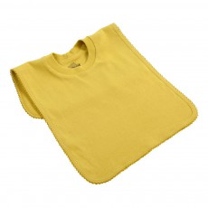 Bavoir encolure t-shirt Jaune moutarde