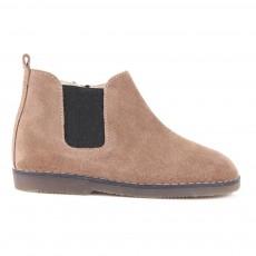 Boots Suède Chelsea Zippées Taupe