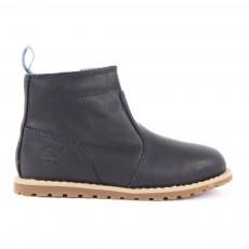 Boots Cuir Zippées Pokey Pine Bleu marine
