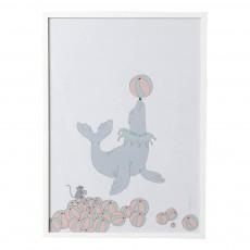 Affiche  Phoque 50x70 cm Multicolore