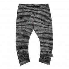 Legging Graphique Coton Bio Gris chiné - Noir