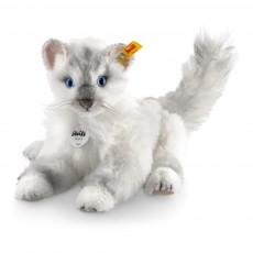 Chat Chari en alpaga 26 cm Blanc