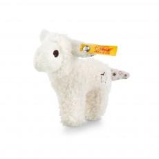Hochet agneau miniature effet bruissant 11 cm Blanc