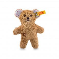 Hochet ours Teddy miniature effet bruissant 11 cm Brun