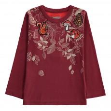 T-Shirt Patchs Animaux Forest Bordeaux