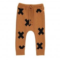 Pantalon Maille Croix Camel