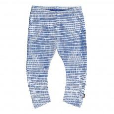 Legging Graphique Coton Bio Bleu