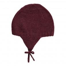 Bonnet Péruvien Alpaga Bordeaux