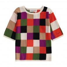 Robe Maille Damier Multicolore