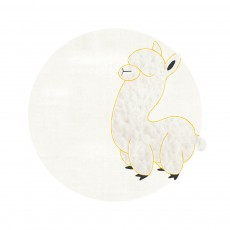 Tapis bébé Alpaga 95 cm Blanc
