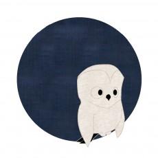 Tapis Chouette 95 cm Bleu