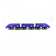 Train HS1 à grande vitesse Bleu