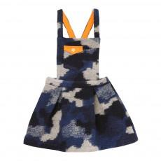 Robe Tablier Laine Camouflage Bleu marine