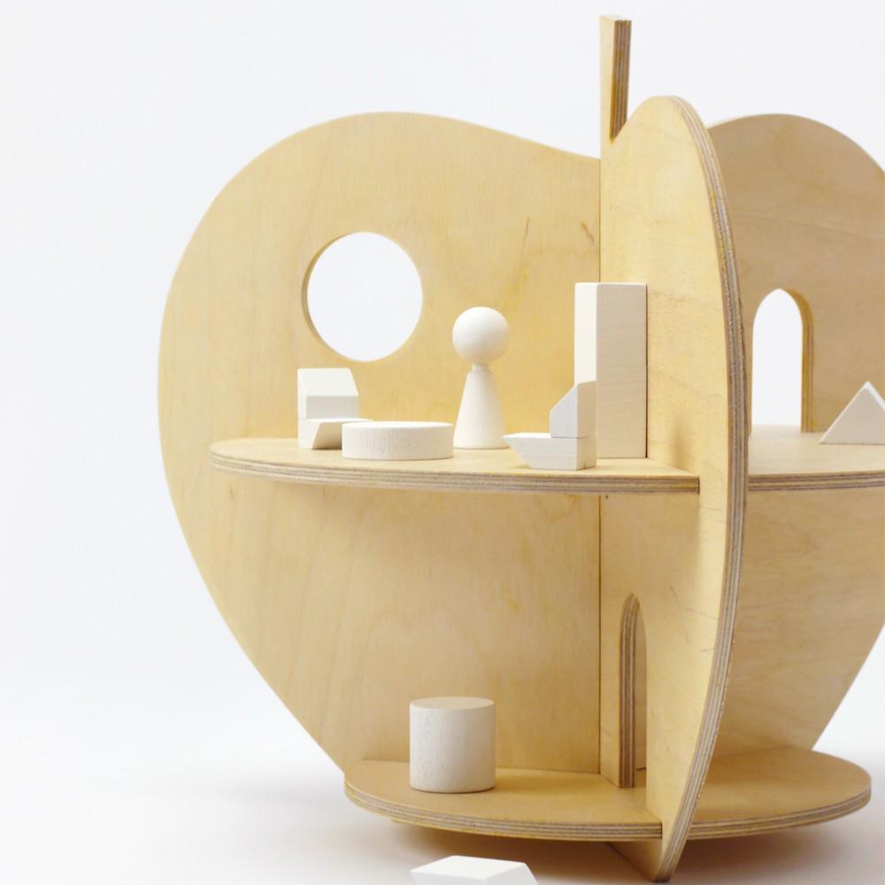 maison pomme en bois naturel rock and pebble jeux jouets loisirs enfant smallable. Black Bedroom Furniture Sets. Home Design Ideas