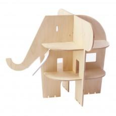 Maison Elephant en bois Naturel