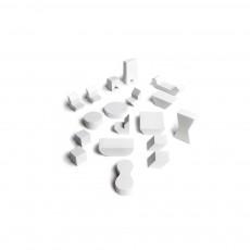 Mini meubles en bois Pebbles Blanc
