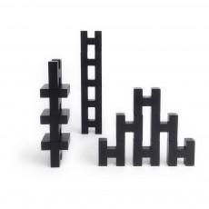 Block de construction H en bois Noir