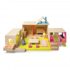 Maison complète avec 2 personnages Multicolore