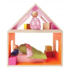 Chambre à coucher avec 2 personnages Multicolore