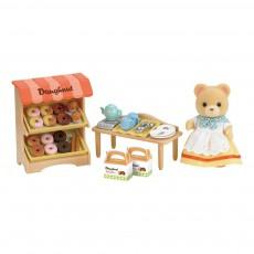 Stand de donuts et figurine Multicolore