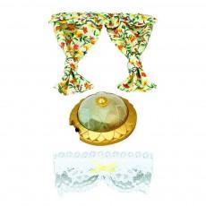 Set décoration lampe et rideaux Multicolore