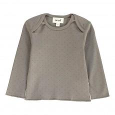 T-Shirt Pois Coton Pima Bio Gris