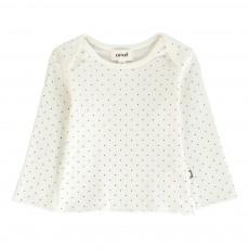 T-Shirt Pois Coton Pima Bio Blanc