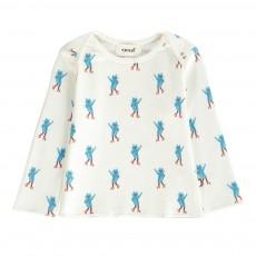 T-Shirt Chats Coton Pima Bio Blanc