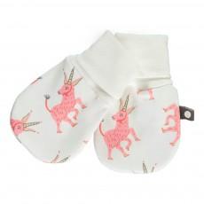 Moufles Licornes Coton Pima Bio Blanc