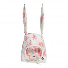 Bonnet Lapin Licornes Coton Pima Bio Blanc