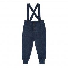 Pantalon Baby Alpaga Bretelles Bleu indigo