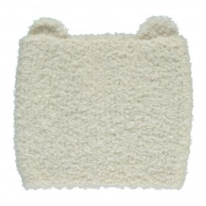 Bonnet Baby Alpaga Bouclé Ours Blanc