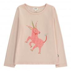 T-Shirt Licorne Coton Pima Bio Rose pâle