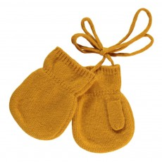 Moufles Cachemire Gaelle Jaune moutarde