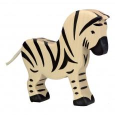 Figurine en bois zèbre Blanc