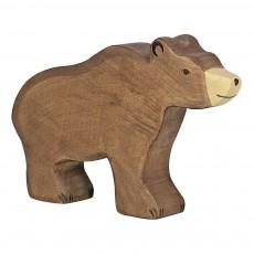 Figurine en bois ours Brun