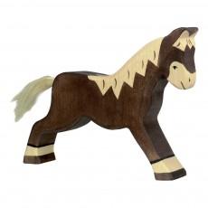 Figurine en bois cheval Brun