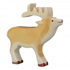 Figurine en bois cerf Beige