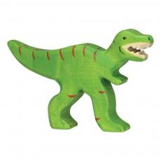 Figurine en bois tyrannosaure Rex Vert