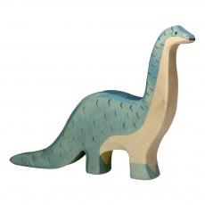 Figurine en bois brontosaure Bleu