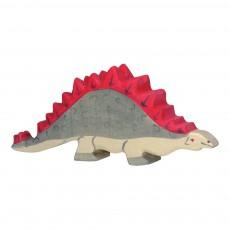Figurine en bois stégosaure Multicolore