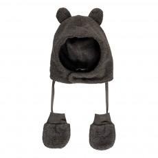 Bonnet Oreilles   Moufles Polaires Linus Gris