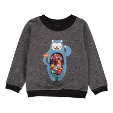 Sweat Ours Stan Gris chiné