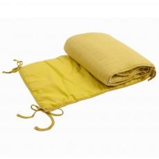 Tour de lit en coton Jaune moutarde