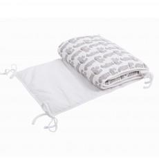 Tour de lit en coton motif ours Blanc